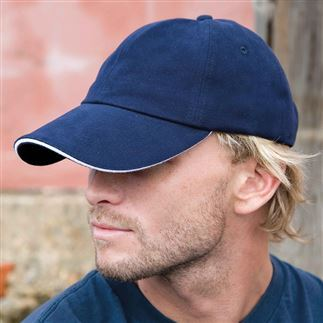 Memphis brushed cotton low-profile sandwich peak cap